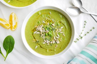 Kim D'Eon's Clean Green Pea Soup