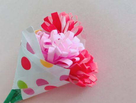 折り紙 カーネーションの簡単な作り方!立体感を出して花束にしよう!