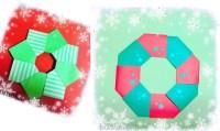 クリスマスリースを折り紙で!子供でも簡単に作れるよ☆