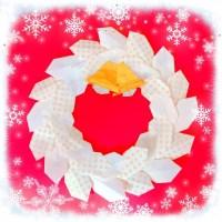折り紙 クリスマスリースの折り方!簡単なのにおしゃれで可愛いよ♡
