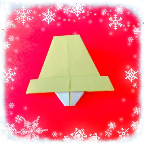 折り紙で鐘(ベル)の折り方!クリスマスの飾りのリースやツリーに☆