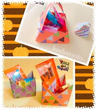 ハロウィンのお菓子入れを手作りしよう♪折り紙で簡単に作れるよ!