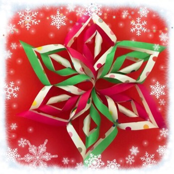 クリスマスリースは折り紙で!作り方は簡単♪おしゃれなリース☆