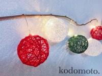 クリスマスの飾りを手作り☆100均でおしゃれに【コットンボール】