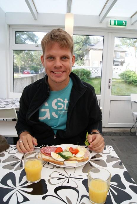 Ontbijt in 't hostel