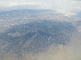 Coole berg uit 't vliegtuig