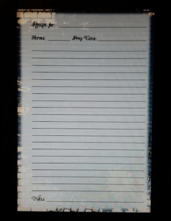 recipe book page