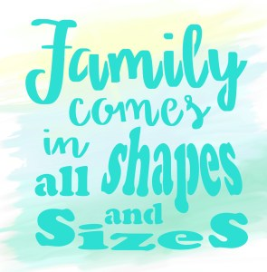 Family Shapes Sizes 12x12 watercolor back