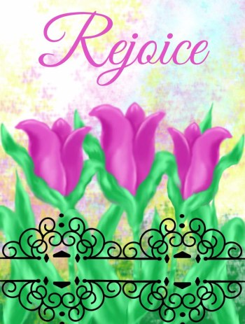 Rejoice tulips easter card