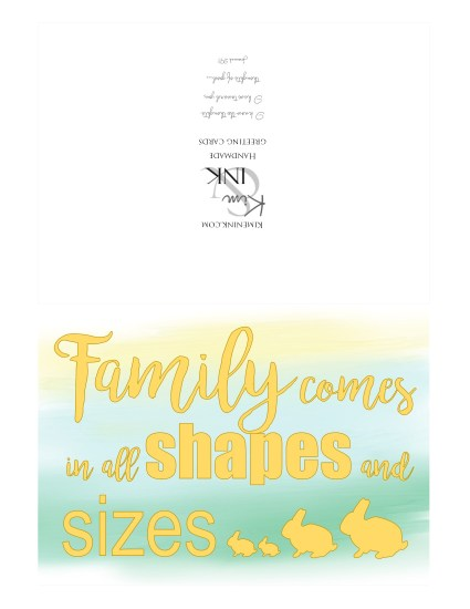 family shapes sizes card front