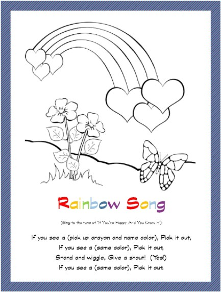 rainbow flowers butterfly card image 2