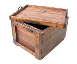 handmade wood crate with lid that is a handled tray