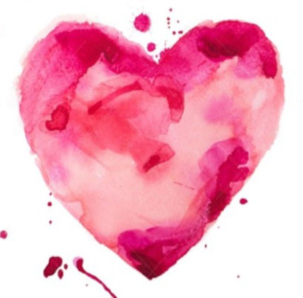 I found love when I found you watercolor heart image