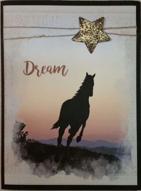 Horse and Sunset Dream card photo