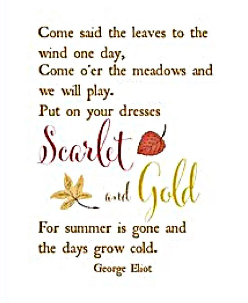 come said the leaves to the wind fall quote