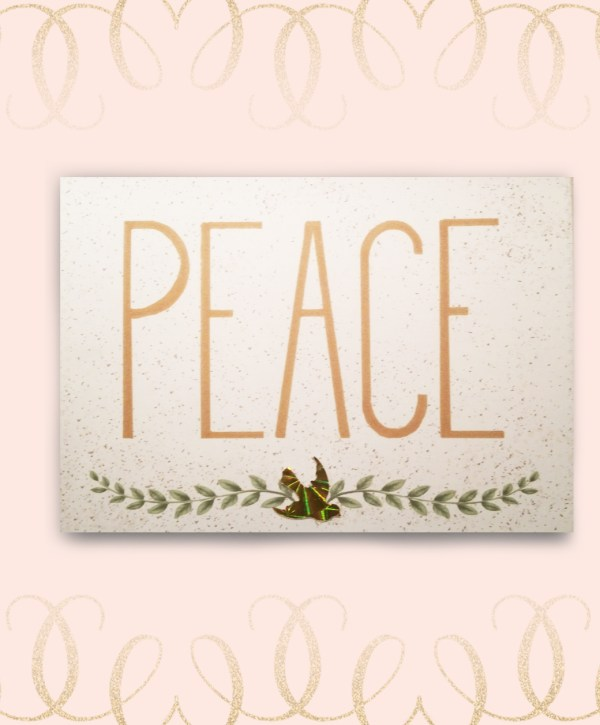 Peace Dove Olive Branch Christmas Card