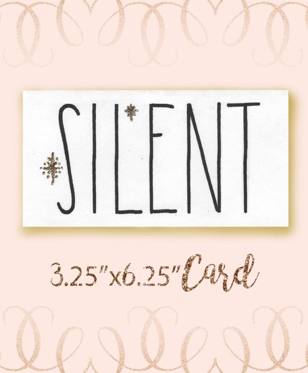 Silent Angel Font Christmas Card bundle