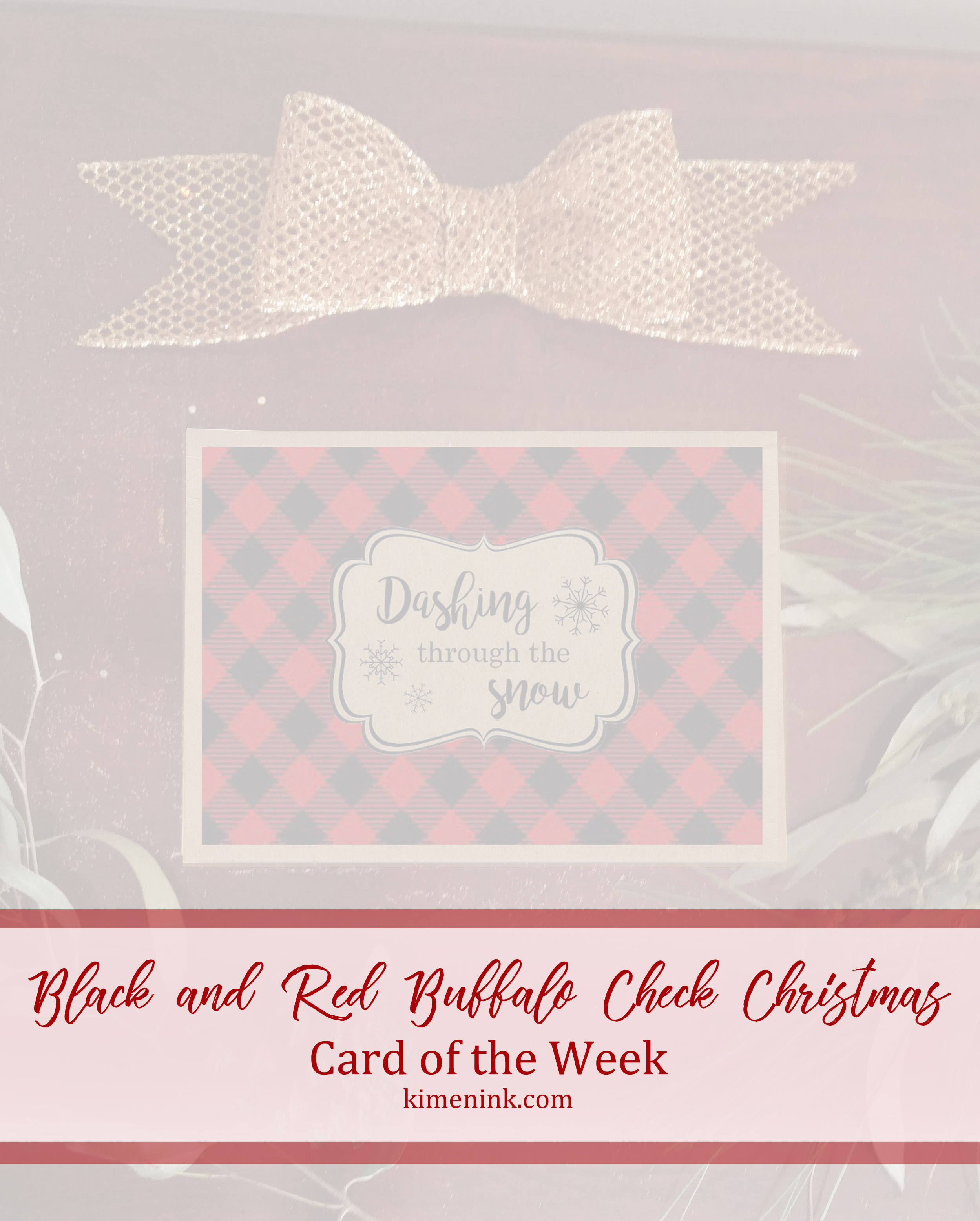 Black and Red Buffalo Check Christmas Card of the Week image