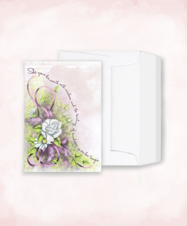 blessed to be blessing tribute card and envelope image
