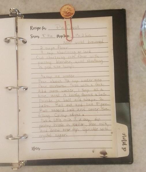 pie crust recipe page
