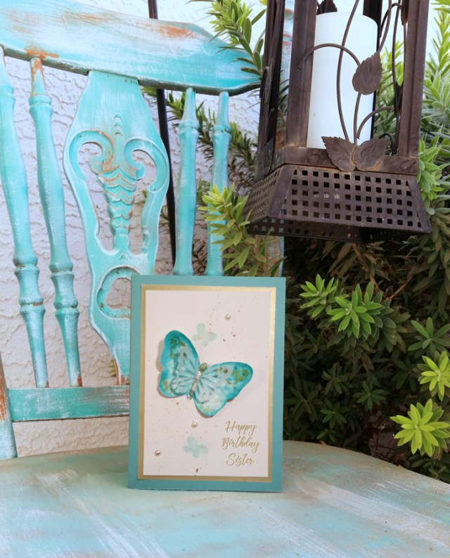 Pearls-and-Painted-Butterfly-Sister-Birthday-Card-on-chair-image
