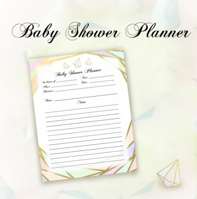 Geometrics Baby Shower Planner Page One