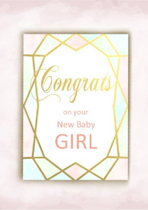 Baby Girl Birth Congratulations Card Archives Kimenink