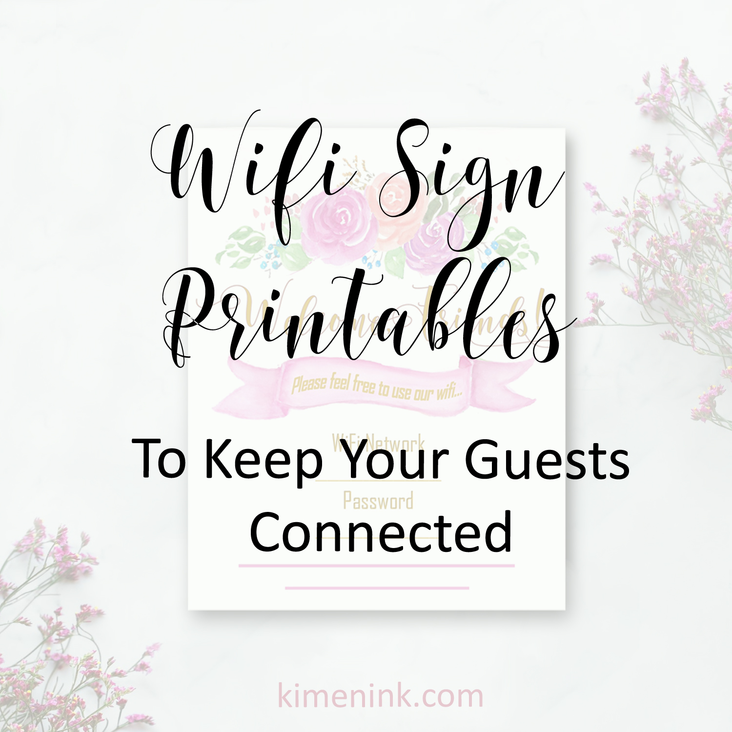 picture relating to Printable Wifi Sign named Visitor Wifi Indicator: How towards Hold Readers Affiliated ~ Kimenink