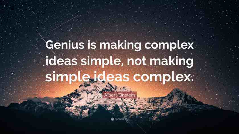 Genius - Complex To Simple