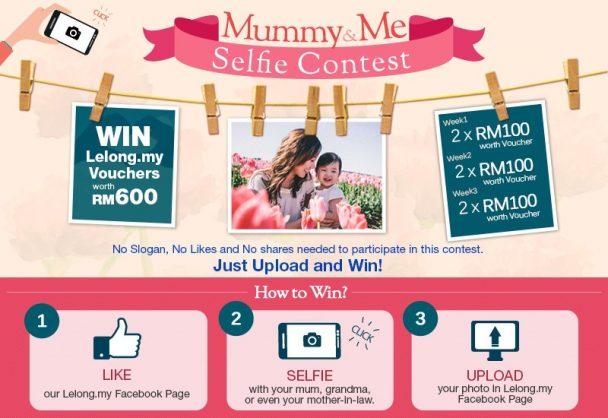 concours de partage d'un selfie