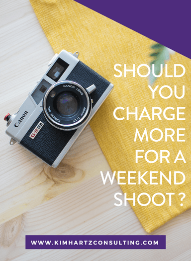 Should you charge more for a weekend shoot?
