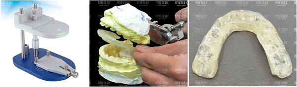 Thẩm mỹ Hàn Quốc Kim Hospital sử dụng giá khớp Quick chuyên dụng để đo mặt phẳng nhai