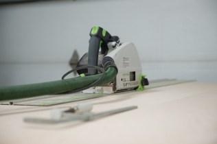 Festool TS-55 plywood cutting