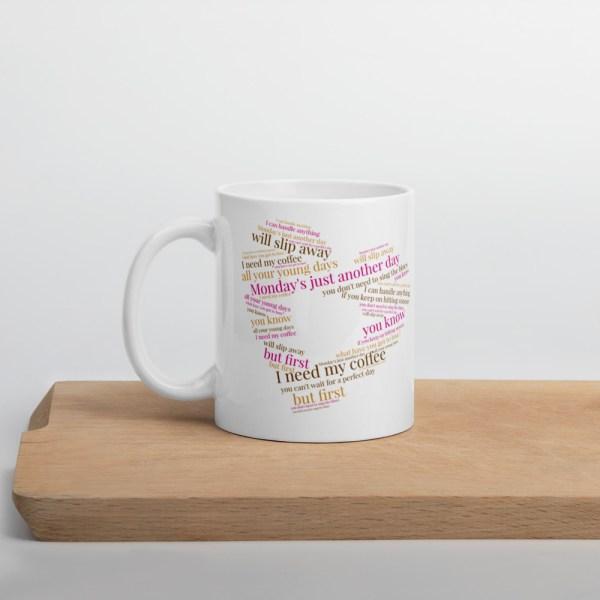 Coffee Lyric Mug front