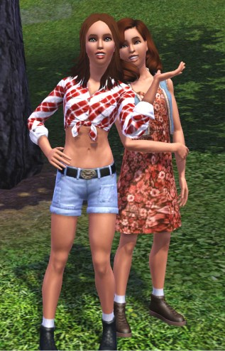 Xandra and Lexie Williams (now Lexie Brown) as teens in the 90s