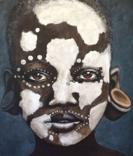Omo Child in White Patch-Paint
