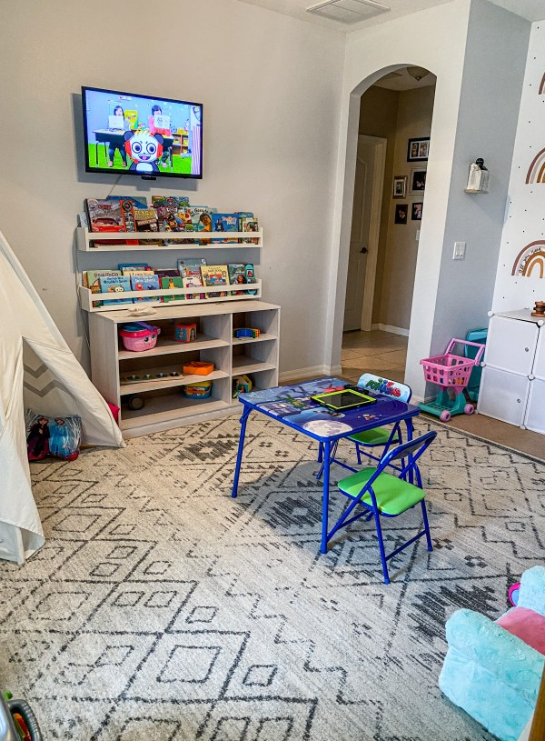 Playroom Makeover – From Clutter to Montessori Like