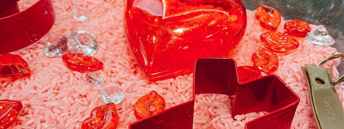 Valentine's Sweetheart Sensory Bin