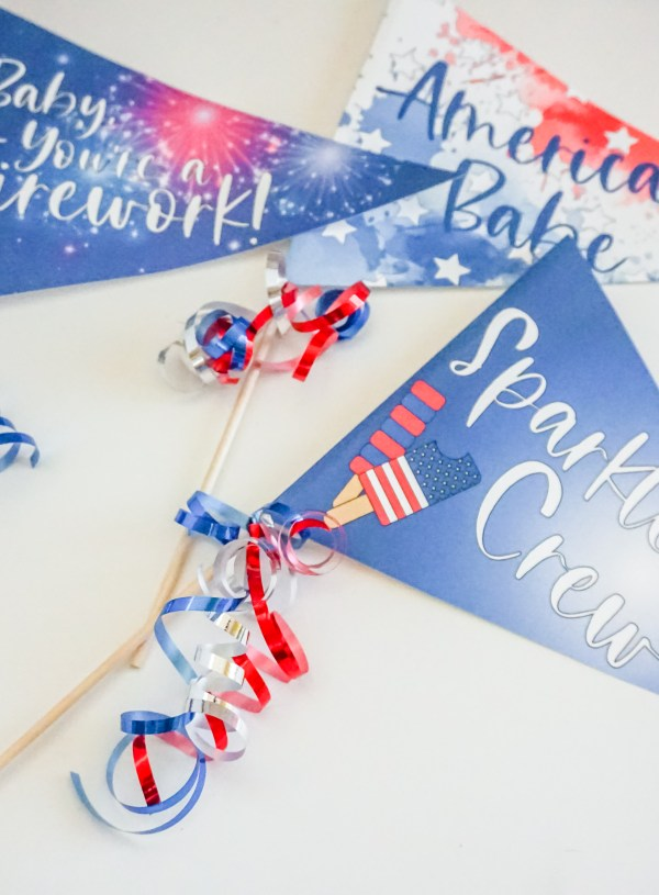 4th of July Pennants