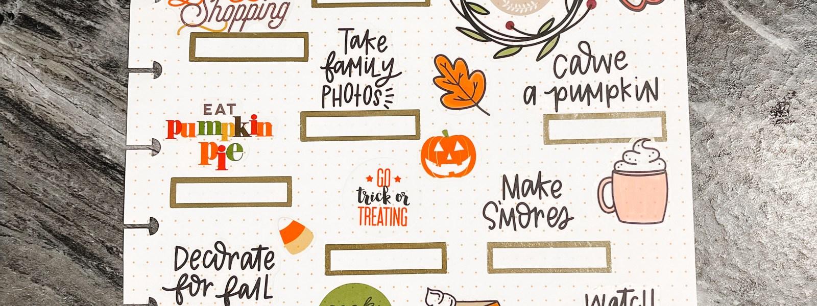 Fall Bucket List – Creating Memories