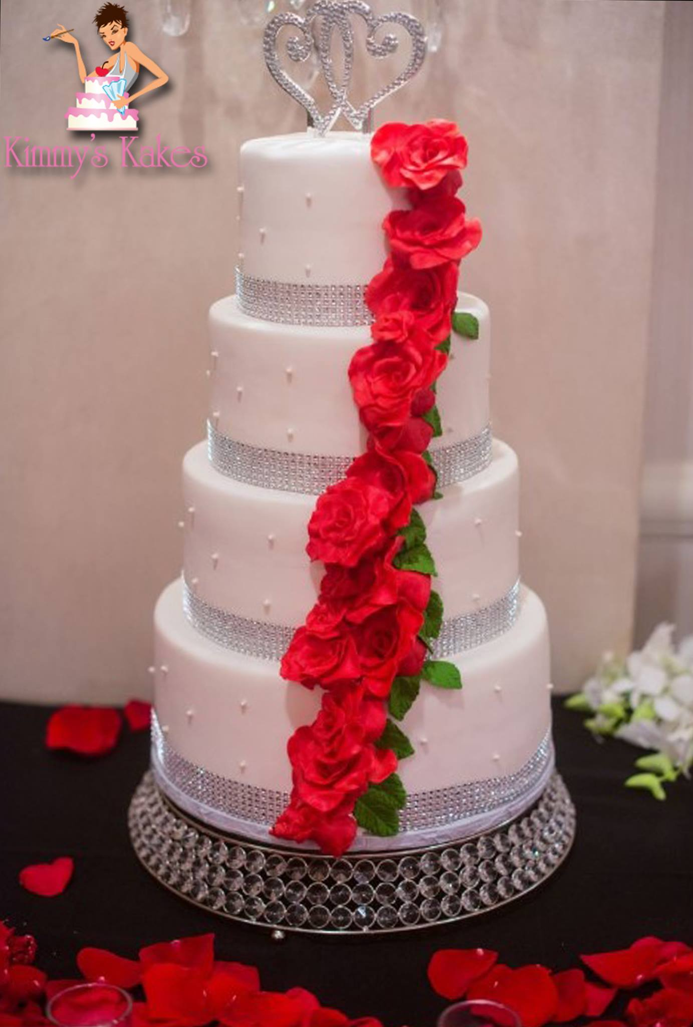 NJ Wedding Cake Maker   Kimmy s Kakes Professional Custom Cake Design Abby C   NJ