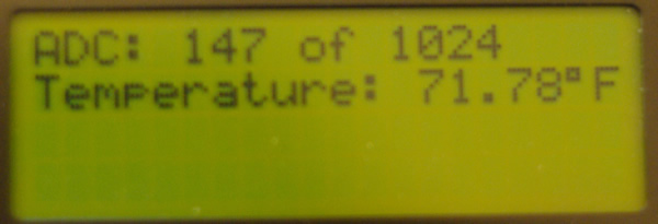 Normal nerdkit display