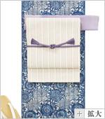 三勝浴衣藍染に名古屋帯