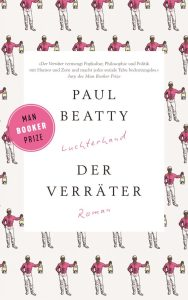 Der Verraeter von Paul Beatty, Cover