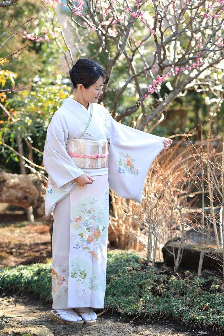 着物レンタル 花のん 加賀友禅 藤