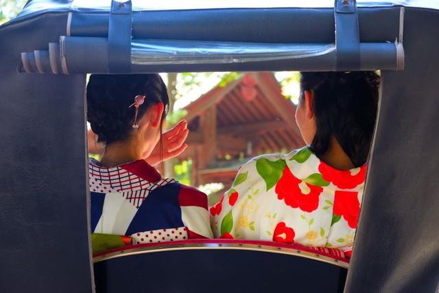 鎌倉 人力車 浴衣 着物