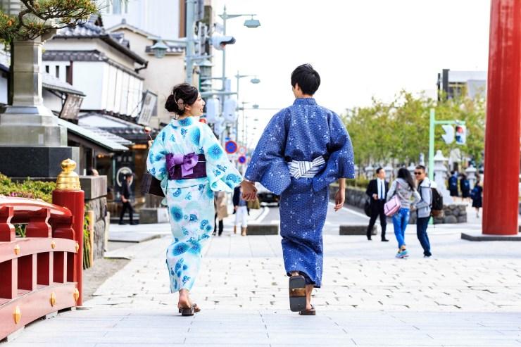 鎌倉着物レンタル 浴衣カップル