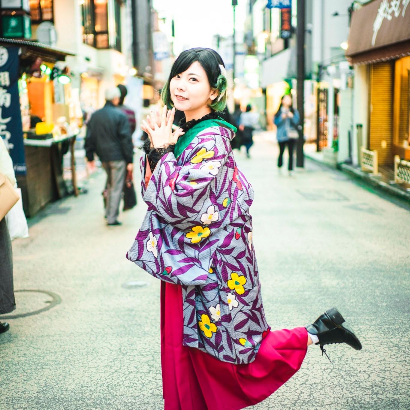 鎌倉着物レンタル 冬のコーデ 初詣