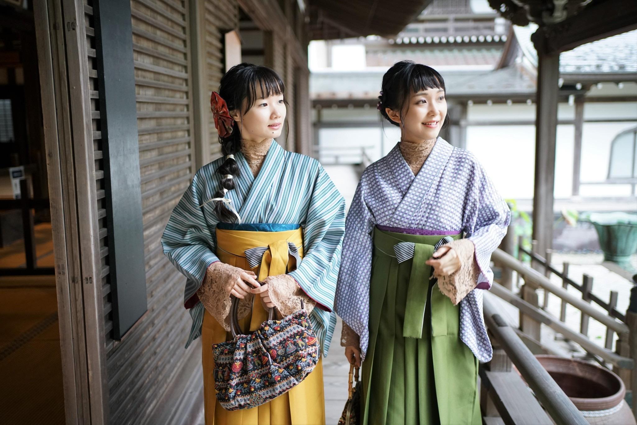 鎌倉着物レンタル 花のん 袴スタイル