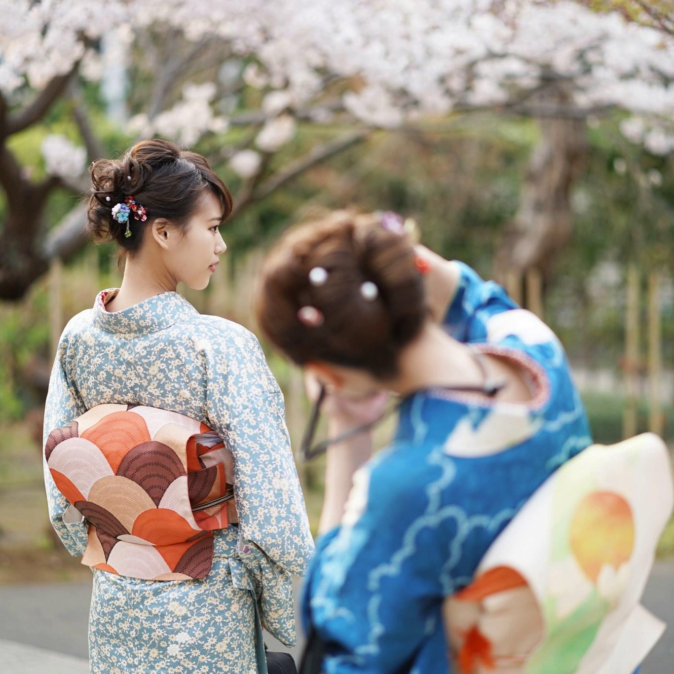 鎌倉花のん 春の着物コーデ